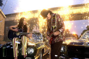 Carlos Santana and Michelle Branch